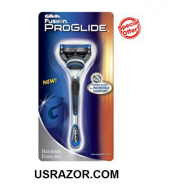 Gillette FUSION Proglide Razor Shaver Handle+1 Refill