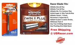 11 Trac II Blades Wilkinson Super Plus Cartridge Refill ft Gillette Schick Razor