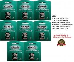 40 FX Performer Blades Cartridges Refills Fit Schick Tracer Diamond Sports Razor