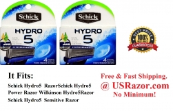 2 x 4 Schick Hydro 5 Blades Power Razor Refill Cartridges