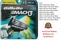 6 Gillette Mach3 Razor Blades ..