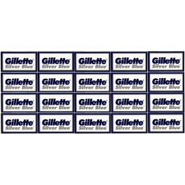 100 Gillette Double Edge Silver Blue Safety Razor Blades Refills Classic Style
