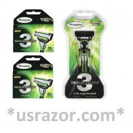 11 Personna Magnum3 Razor Blade Refill Cartridge Cheaper than Gillette Schick