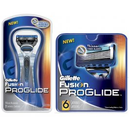 6 Gillette Fussion Proglide Blades + Razor with 2 Cartridges