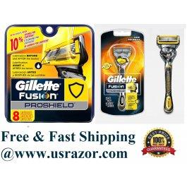 9 Gillette Proshield Fusion Flexball Razor Cartridges Flex Ball Shaver Blades