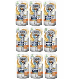 9 Silver Touch FLEX BALL Gillette FUSION Proglide Manual Razor Handle Shaver