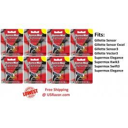 24 Supermax Elegance 4 BLADES Razor fit Gillette Sensor3 Excel