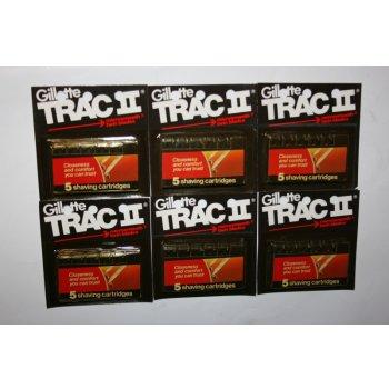30 Gillette Trac Ii Non Lubricant Cartridges Blades Razor