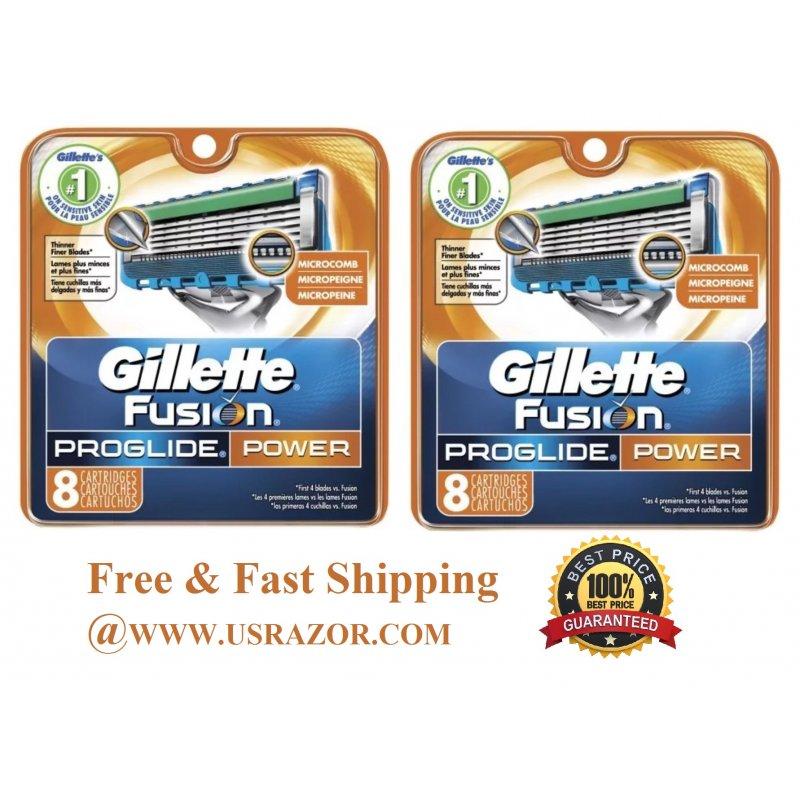 16 Gillette Fusion Proglide Power Razor Blades Refill