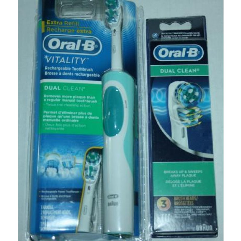 braun oral b vitality dual clean rechargeable toothbrush 5. Black Bedroom Furniture Sets. Home Design Ideas