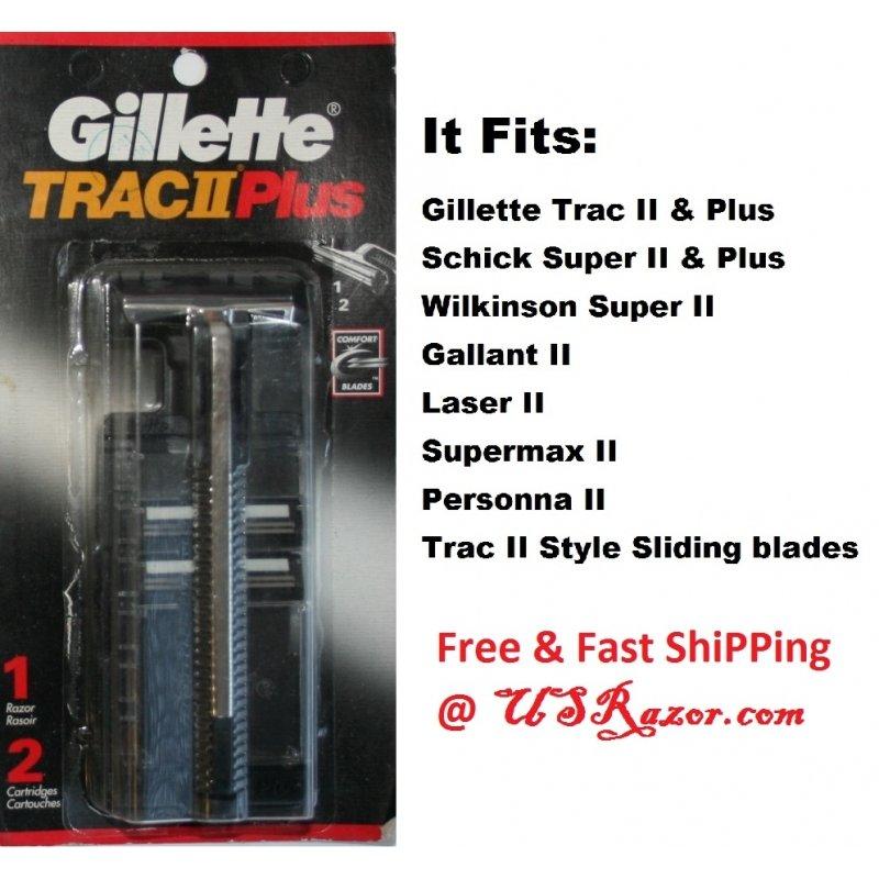 Gillette Trac Ii Original Metal Razor Shaver Handle
