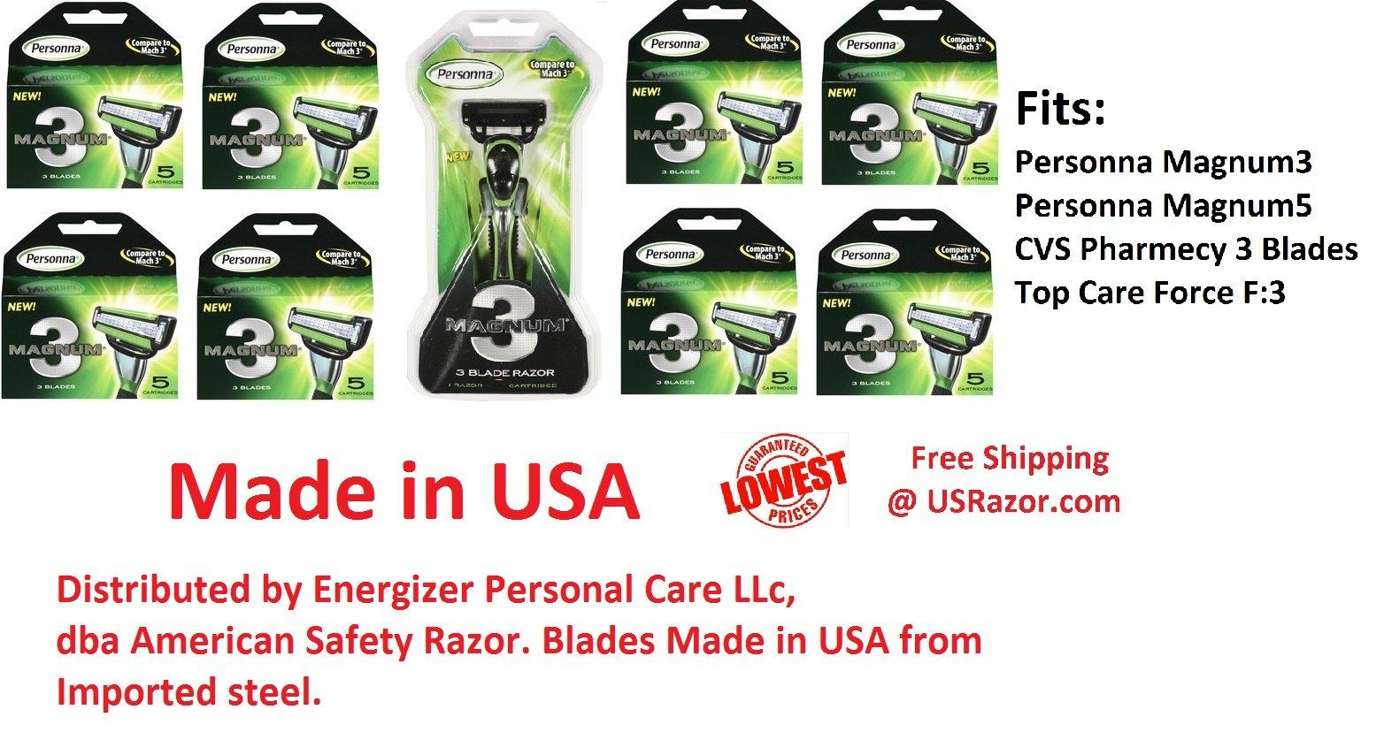 41 Personna Magnum3 Razor Blade Cheaper Than Gillette