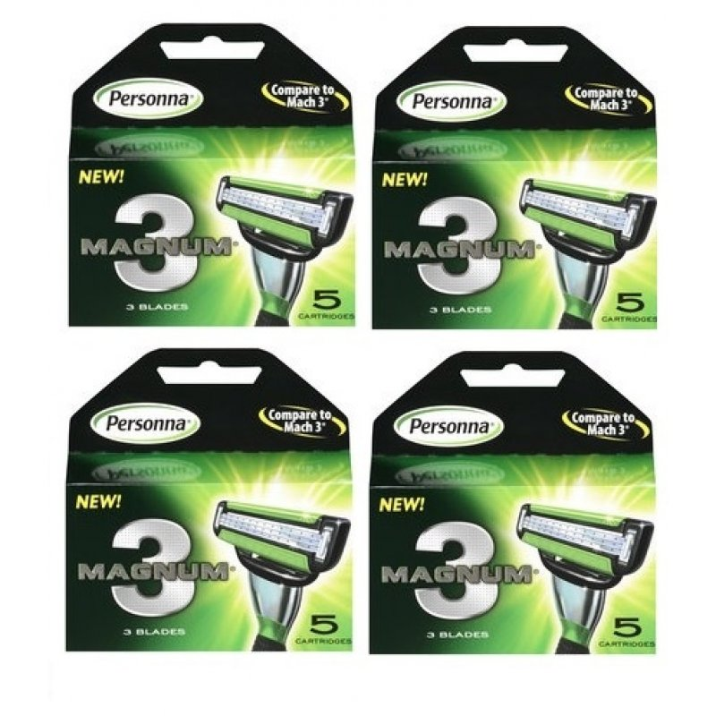 20 Magnum Cartridges Trimmer Shaver Handle Razor 5 Blades