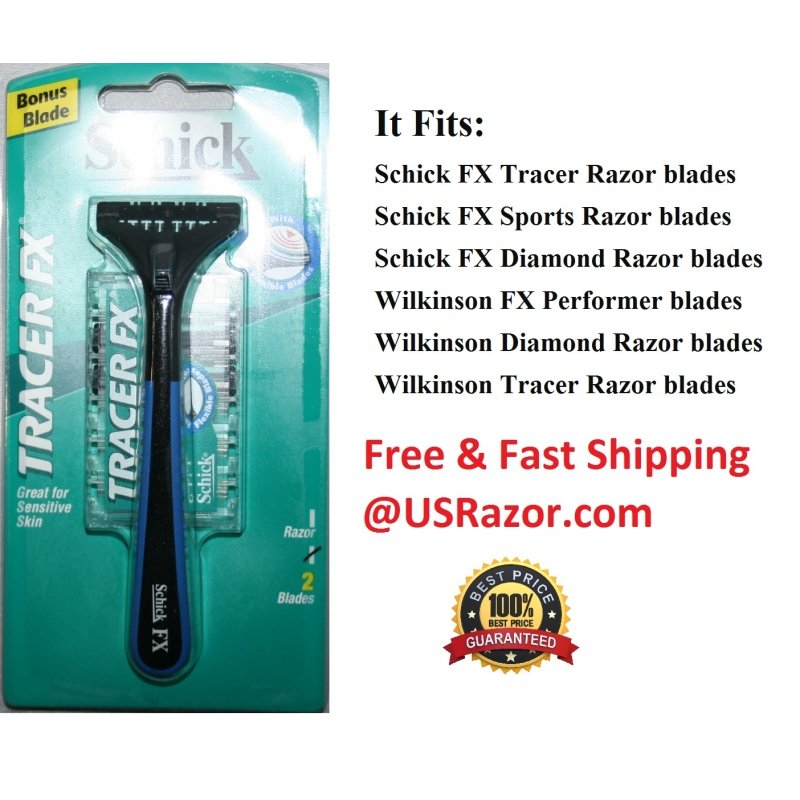 Schick Fx Tracer Razor Shaver Handle Fit Diamond Blades