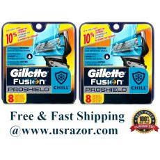 16 Gillette Proshield Chill Fusion Flexball Blades Cartridge fit Power Razor 8 4