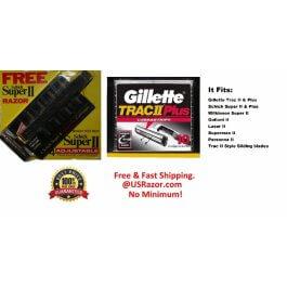 14 Trac II Gillette Cartridge 10 Plus 4 Schick Super 2 Razor Shaver Blade Handle