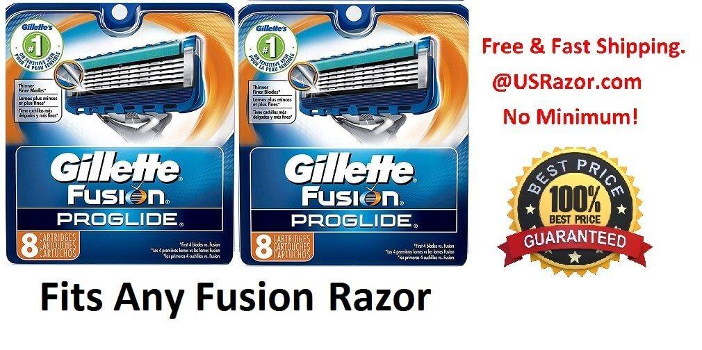 16 Gillette Fusion Proglide Razor Blades Cartridges Refills