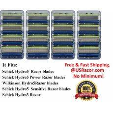 16 Schick Hydro5 Sensitive Razor Blades Refill Cartridges
