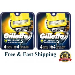8 Gillette Fusion 5 Proshield Flexball Blades Cartridge fit Power Razor